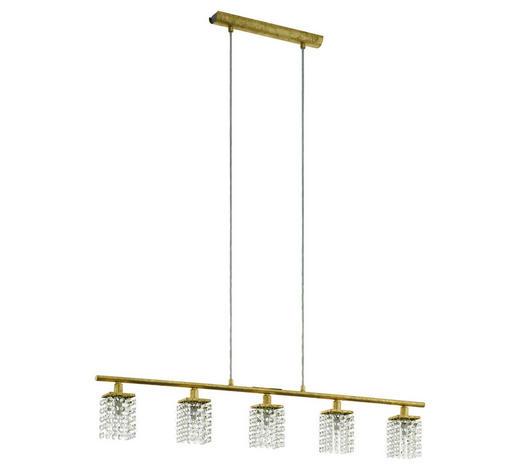 LED-HÄNGELEUCHTE - Goldfarben, LIFESTYLE, Glas/Metall (91,5/6,5/110cm)