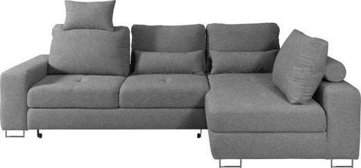 WOHNLANDSCHAFT in Textil Braun, Grau - Braun/Grau, Design, Textil/Metall (260/188/cm) - Hom`in