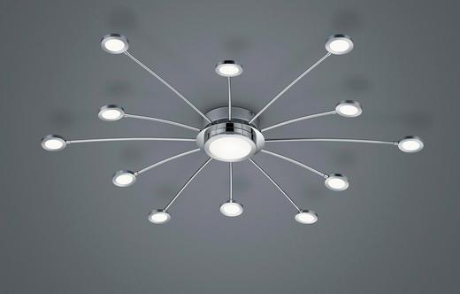 LED-DECKENLEUCHTE - Chromfarben/Weiß, Design, Kunststoff/Metall (100/20cm)
