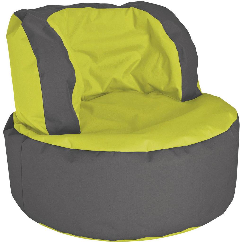 Sitzsack in Grün und Grau von CarryHome