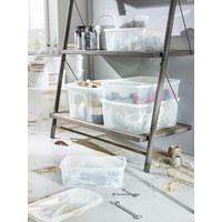 BOX MIT DECKEL 36,3/26,6/13,4 cm - Naturfarben, KONVENTIONELL, Kunststoff (36,3/26,6/13,4cm) - Rotho