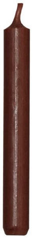 STABKERZE 18 cm - Dunkelbraun, Basics (18cm)