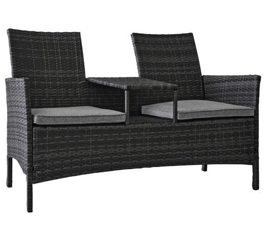 VRTNA KLUPA - siva, Moderno, metal/tekstil (142/89/61,5cm) - Ambia Garden