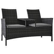 VRTNA KLUPA - siva, Romantično / ladanjski, metal/tekstil (142/89/61,5cm) - Ambia Garden