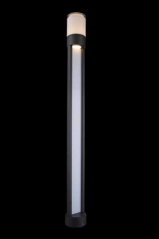 AUßENLEUCHTE Klar, Opal - Klar/Opal, MODERN, Kunststoff/Metall (11/110cm)
