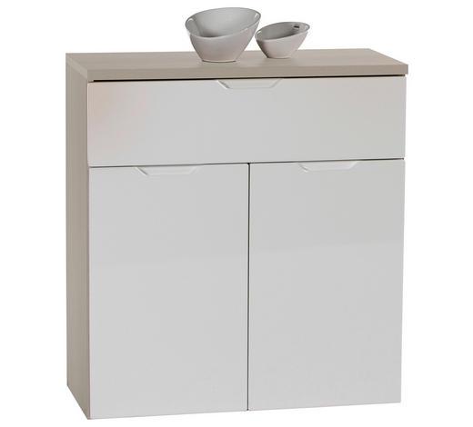 KOMODA - bijela/siva, Design, drvni materijal (73/79/34cm) - Boxxx