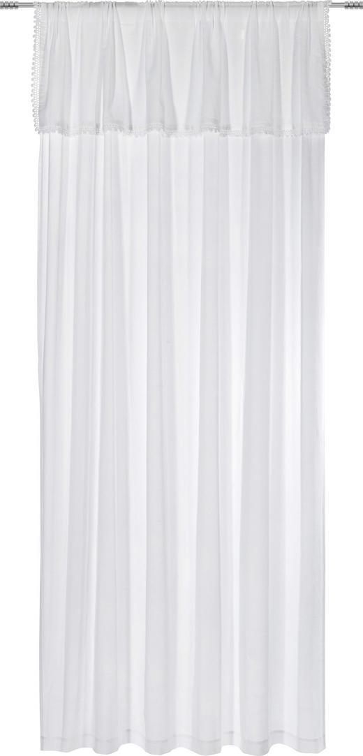 FERTIGVORHANG blickdicht - Weiß, Design, Textil (140/250cm) - LANDSCAPE