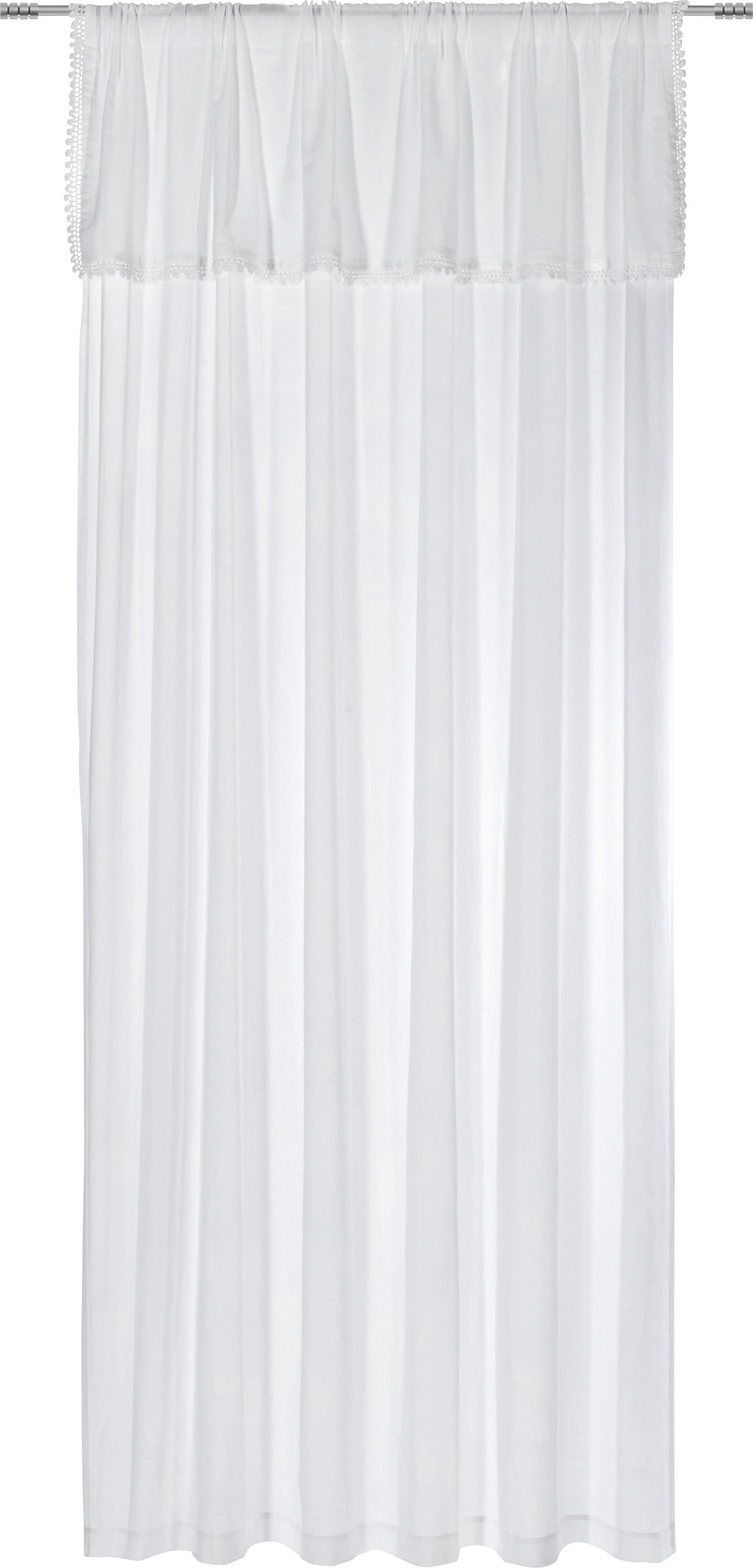 FERTIGVORHANG blickdicht - Weiß, MODERN, Textil (140/250cm) - LANDSCAPE