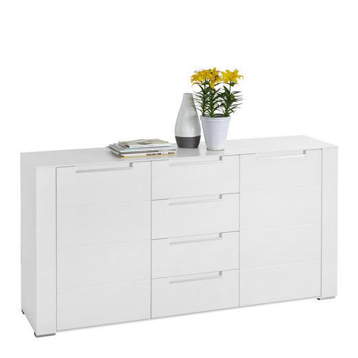 SIDEBOARD foliert, matt Weiß - Silberfarben/Weiß, Design, Holzwerkstoff/Kunststoff (170/87/41cm) - Hom`in