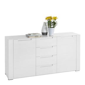 SIDEBOARD - vit/silver, Design, träbaserade material/plast (170/87/41cm) - Hom`in