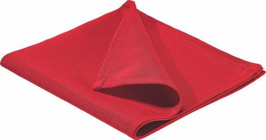 SERVIETTE Textil Rot 40/40 cm - Rot, Basics, Textil (40/40cm)