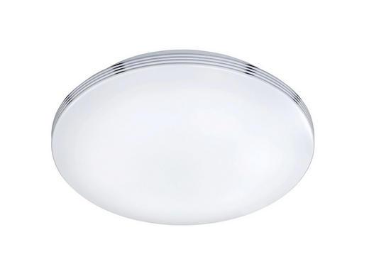 BADEZIMMER-DECKENLEUCHTE - Chromfarben/Weiß, Design, Kunststoff/Metall (35,0/9,5cm)