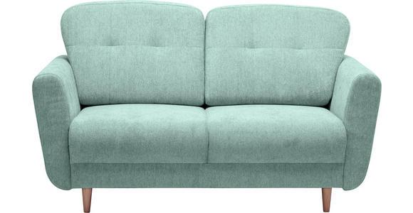 ZWEISITZER-SOFA in Textil Blau, Grün - Blau/Grün, Design, Holz/Textil (154/90/93cm) - Hom`in