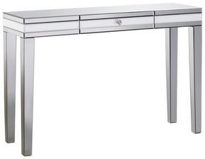 KONSOL - silver, Design, glas/träbaserade material (120/80/35,5cm) - Xora