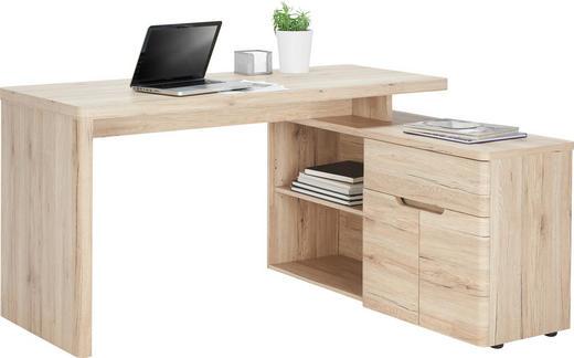 Schreibtischkombination - Eichefarben, KONVENTIONELL, Holzwerkstoff (140/77/117,5cm)