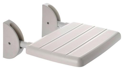 DUSCHHOCKER Metall, Kunststoff - Weiß, Basics, Kunststoff/Metall (36/25cm)