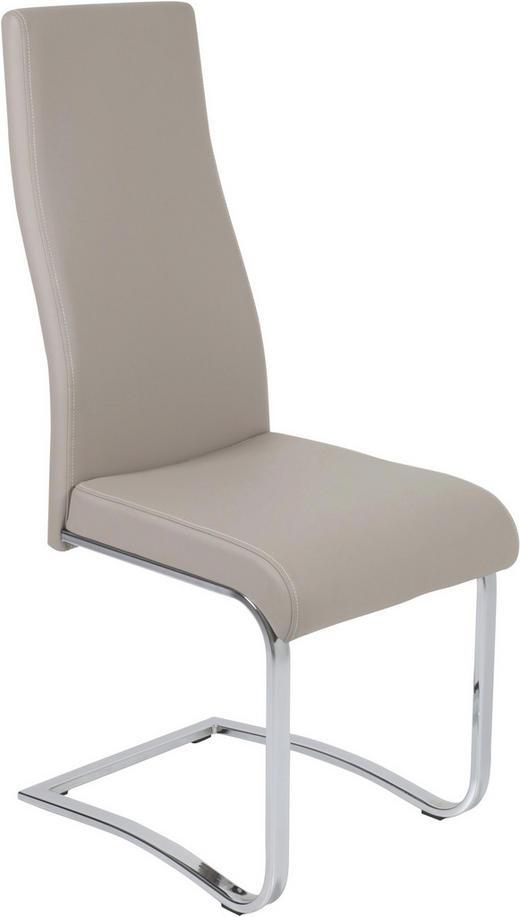SCHWINGSTUHL Lederlook Creme - Creme/Weiß, Design, Textil/Metall (43/105/61cm) - Carryhome