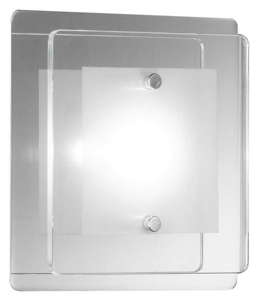 WANDLEUCHTE - Chromfarben/Klar, LIFESTYLE, Glas/Metall (12/12cm)