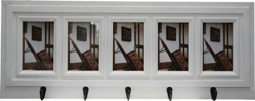 GARDEROBENLEISTE Paulownia Weiß - Weiß, LIFESTYLE, Holz (73/28/5cm)
