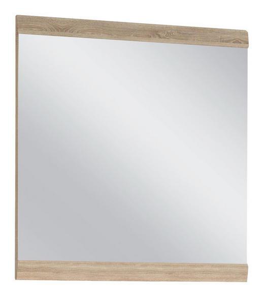 WANDSPIEGEL Eichefarben - Eichefarben/Weiß, Basics, Glas/Holzwerkstoff (80/85/2cm) - Carryhome