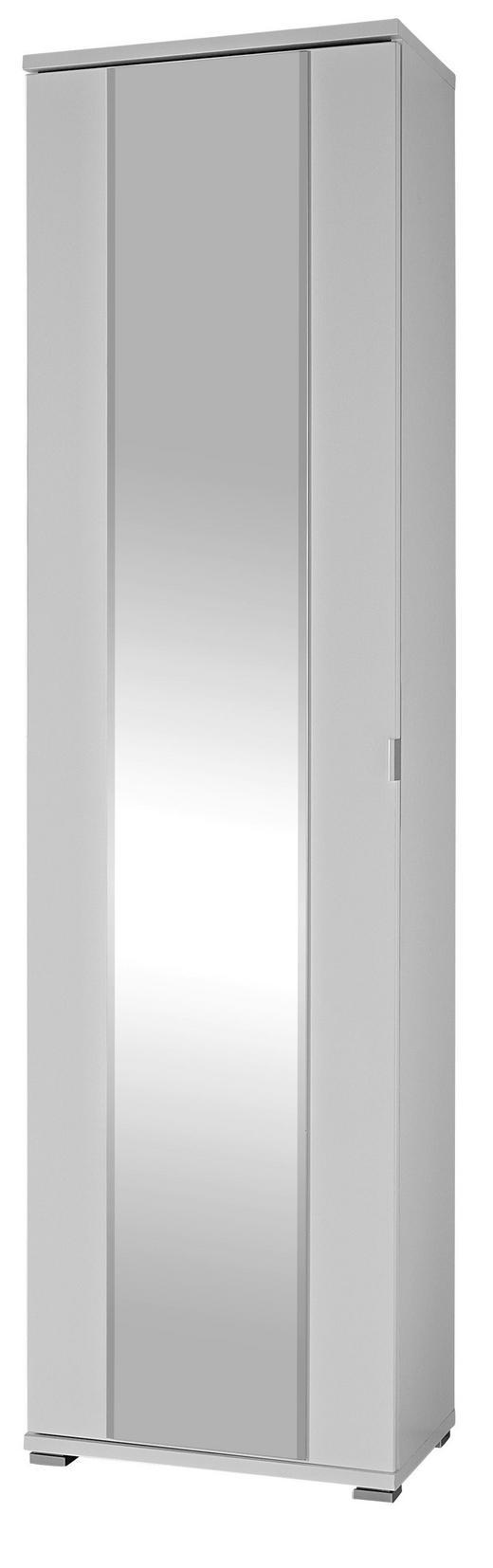 GARDEROBENSCHRANK Weiß - Alufarben/Weiß, Basics, Holzwerkstoff/Metall (54/199/34cm) - Xora