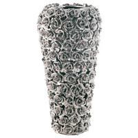 VASE - Chromfarben, Design, Keramik (18/37/18cm) - Kare-Design