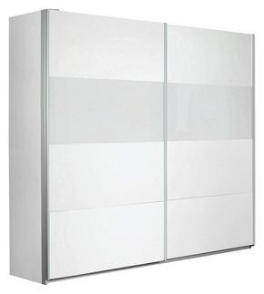 SKJUTDÖRRSGARDEROB - vit/alufärgad, Basics, metall/glas (226/210/62cm) - Carryhome