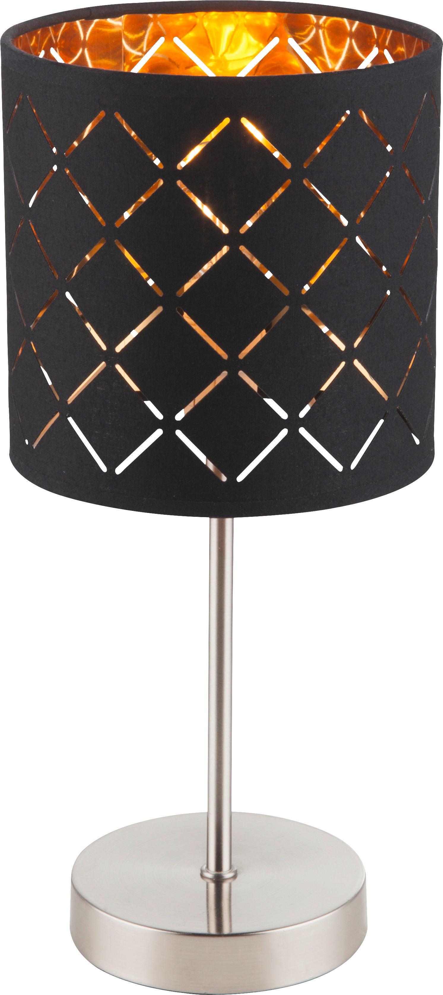 Levně STOLNÍ LAMPA, E14, 15/35 cm - černá, barvy zlata