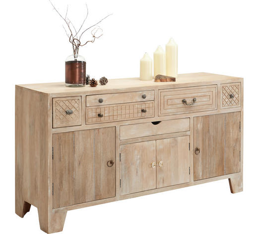 KOMMODE 160/85/45 cm - Bronzefarben/Naturfarben, Trend, Holz/Metall (160/85/45cm) - Ambia Home