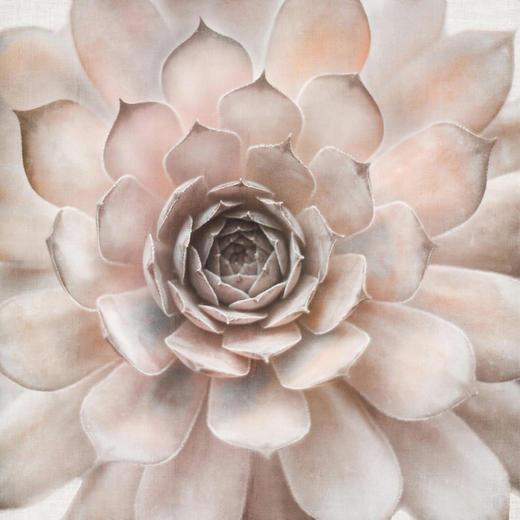 Blumen BILD - Multicolor/Rosa, LIFESTYLE, Holz/Textil (85/85cm) - Monee