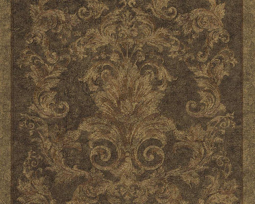 VLIESTAPETE 10,05 m - Dunkelbraun/Goldfarben, Basics, Textil (70/1005cm)