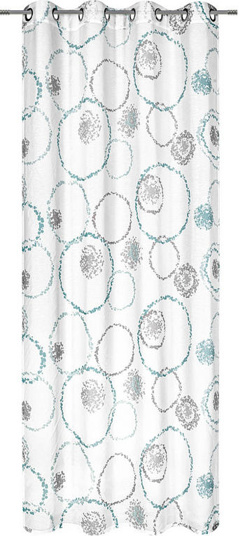 ÖSENVORHANG halbtransparent - Blau/Grau, KONVENTIONELL, Textil (135/245cm) - ESPOSA