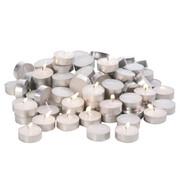 Teelicht-Set 100-teilig  - Weiß, Basics, Metall (5cm) - Boxxx