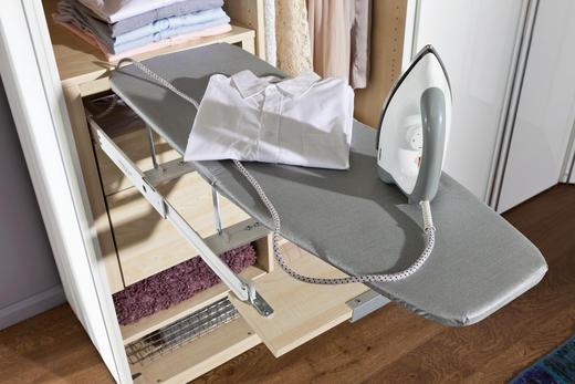 BÜGELBRETT für 50er Elemente - Silberfarben, Design, Textil (93/31cm) - Hom`in