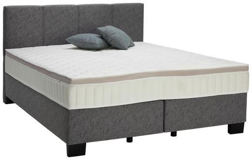 BOXSPRINGBETT 160/200 cm  in Platinfarben - Platinfarben/Schwarz, Design, Kunststoff/Textil (160/200cm) - Hom`in
