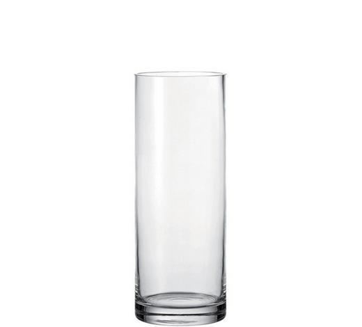 VASE 40 cm - Transparent, Basics, Glas (15/40/15cm) - Leonardo