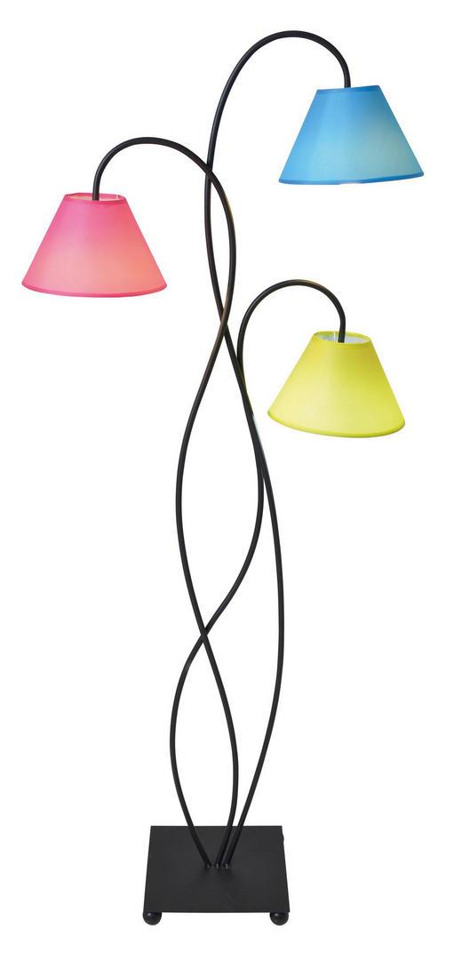 STEHLEUCHTE - Multicolor/Schwarz, LIFESTYLE, Textil/Metall (50/130cm)