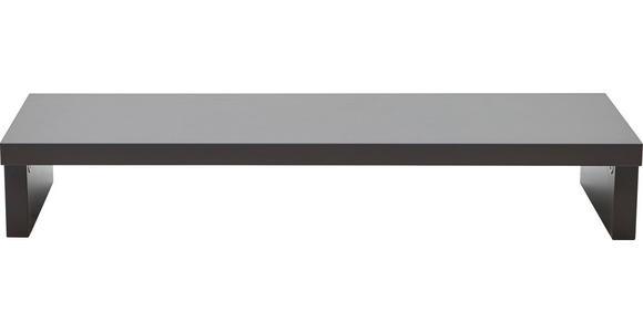 TV-AUFSATZ in - Graphitfarben, KONVENTIONELL, Holzwerkstoff (89/14/37cm) - Voleo