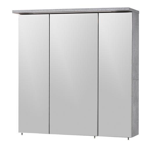 SPIEGELSCHRANK Grau - Grau/Nickelfarben, Design, Glas/Holzwerkstoff (71/73/24cm) - Stylife