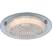 LED-DECKENLEUCHTE   - Chromfarben, LIFESTYLE, Glas/Metall (42/9,5cm) - Novel