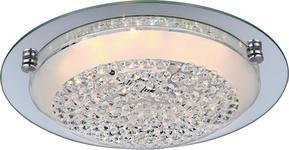 LED-DECKENLEUCHTE - Chromfarben, LIFESTYLE, Glas/Metall (42/9,5cm) - Novel