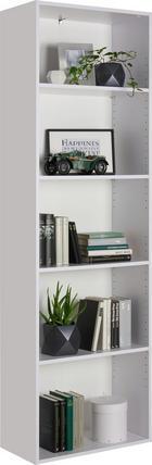 REGAL - bijela/crna, Design, drvni materijal/plastika (60/192/32cm) - Carryhome