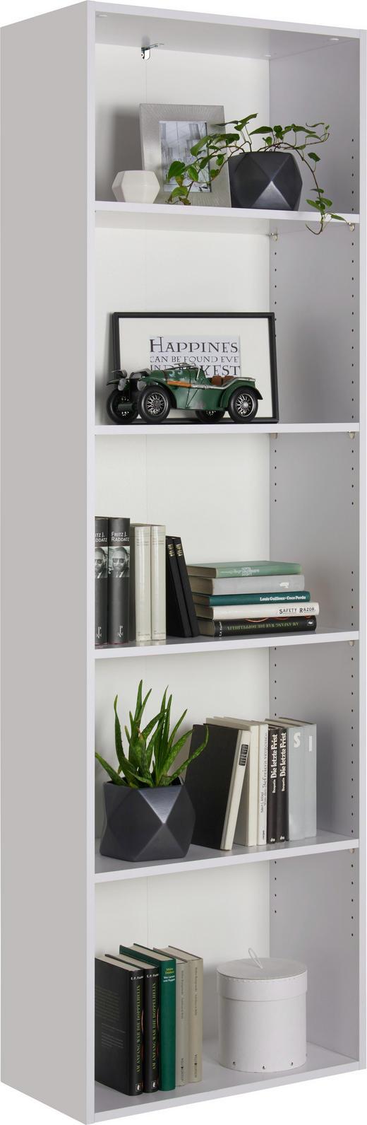 REGAL in 60/192/32 cm Weiß - Schwarz/Weiß, Design, Holzwerkstoff/Kunststoff (60/192/32cm) - Carryhome