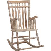 HOUPACÍ KŘESLO - bílá/barvy sheesham, Trend, dřevo (55/105/55cm) - Ambia Home