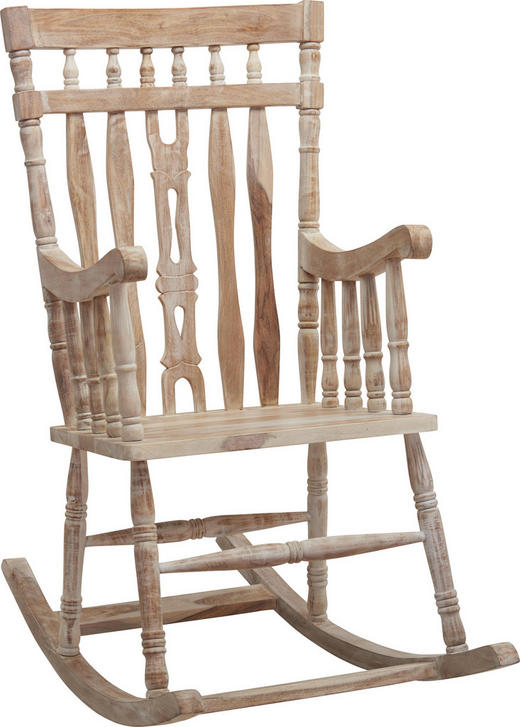 SCHAUKELSTUHL in Holz Weiß, Sheeshamfarben - Sheeshamfarben/Weiß, Trend, Holz (55/105/55cm) - Ambia Home