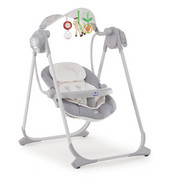 SCHAUKELWIPPE Polly Swing Up - Grau, Basics, Textil/Metall (67/93/57cm) - Chicco