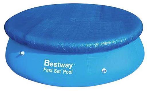 Pool Abdeckung Blau - Blau, Basics, Kunststoff (244cm)