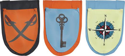 BETTTASCHE Blau, Orange, Schwarz - Blau/Schwarz, Design, Textil (29/40cm) - Flexa
