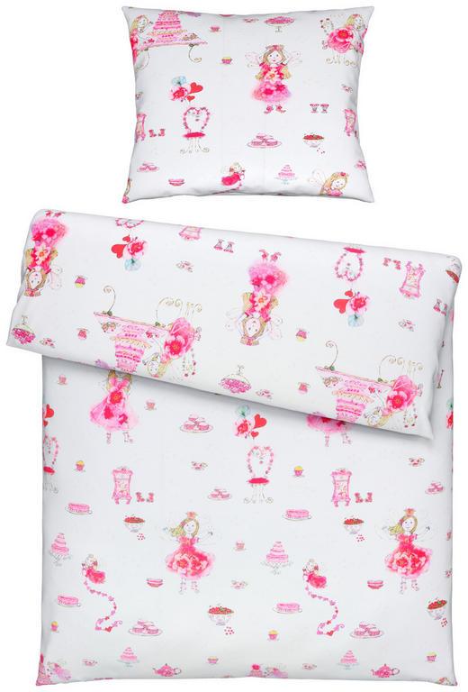 KINDERBETTWÄSCHE - Pink/Weiß, Trend, Textil (140/200cm) - Ben'n'jen