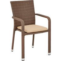 STAPELSESSEL - Taupe/Braun, Design, Kunststoff/Textil (61/88/58cm) - AMBIA GARDEN